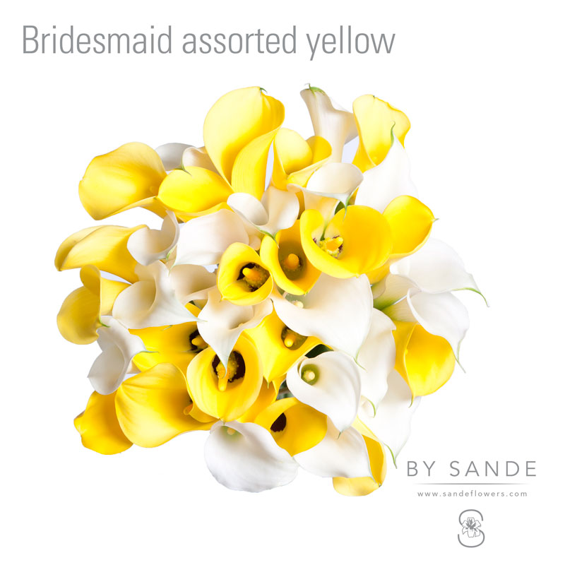 Bridesmaid assorted yellow